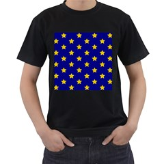 Star Pattern Men s T Shirt (black) (two Sided)