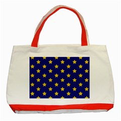 Star Pattern Classic Tote Bag (red)