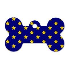 Star Pattern Dog Tag Bone (one Side)
