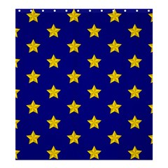 Star Pattern Shower Curtain 66  X 72  (large)