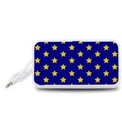 Star Pattern Portable Speaker (White)