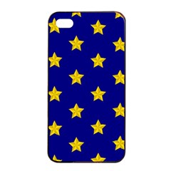 Star Pattern Apple Iphone 4/4s Seamless Case (black)