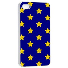 Star Pattern Apple Iphone 4/4s Seamless Case (white)
