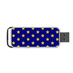 Star Pattern Portable Usb Flash (two Sides)