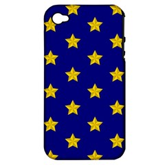 Star Pattern Apple Iphone 4/4s Hardshell Case (pc+silicone)