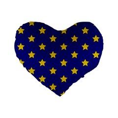 Star Pattern Standard 16  Premium Heart Shape Cushions