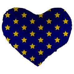 Star Pattern Large 19  Premium Heart Shape Cushions