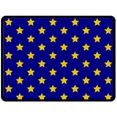 Star Pattern Double Sided Fleece Blanket (Large)