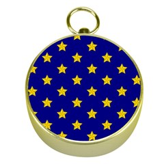Star Pattern Gold Compasses