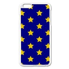 Star Pattern Apple Iphone 6 Plus/6s Plus Enamel White Case