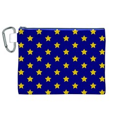 Star Pattern Canvas Cosmetic Bag (XL)