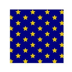 Star Pattern Small Satin Scarf (square)