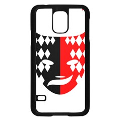 Face Mask Red Black Plaid Triangle Wave Chevron Samsung Galaxy S5 Case (Black)