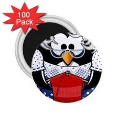Grandma Penguin 2 25  Magnets (100 Pack)