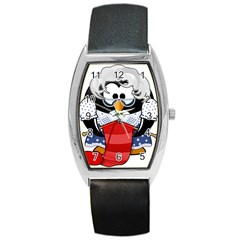 Grandma Penguin Barrel Style Metal Watch