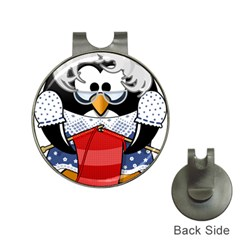 Grandma Penguin Hat Clips With Golf Markers