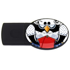 Grandma Penguin Usb Flash Drive Oval (4 Gb)