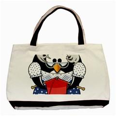 Grandma Penguin Basic Tote Bag