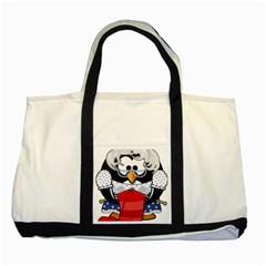 Grandma Penguin Two Tone Tote Bag
