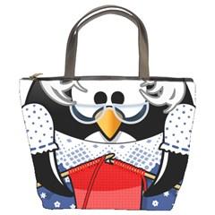 Grandma Penguin Bucket Bags