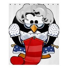 Grandma Penguin Shower Curtain 60  X 72  (medium)