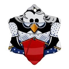 Grandma Penguin Ornament (snowflake)
