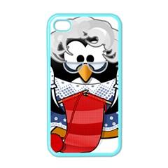 Grandma Penguin Apple Iphone 4 Case (color)
