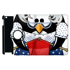 Grandma Penguin Apple Ipad 3/4 Flip 360 Case
