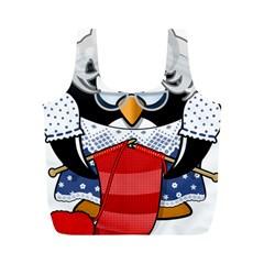 Grandma Penguin Full Print Recycle Bags (m)