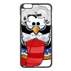 Grandma Penguin Apple Iphone 6 Plus/6s Plus Black Enamel Case