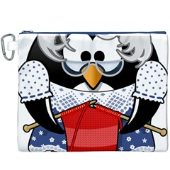 Grandma Penguin Canvas Cosmetic Bag (xxxl)