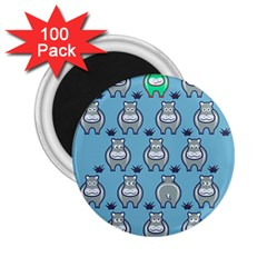 Funny Cow Pattern 2 25  Magnets (100 Pack)