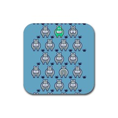Funny Cow Pattern Rubber Coaster (square)