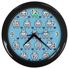 Funny Cow Pattern Wall Clocks (black)