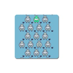 Funny Cow Pattern Square Magnet