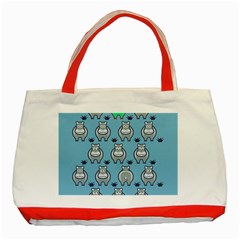 Funny Cow Pattern Classic Tote Bag (red)