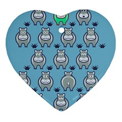 Funny Cow Pattern Heart Ornament (two Sides)
