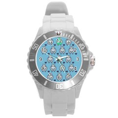 Funny Cow Pattern Round Plastic Sport Watch (l)