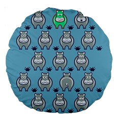 Funny Cow Pattern Large 18  Premium Round Cushions