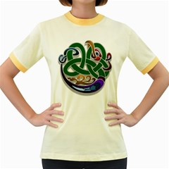 Celtic Ornament Women s Fitted Ringer T Shirts