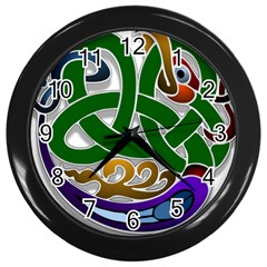 Celtic Ornament Wall Clocks (black)