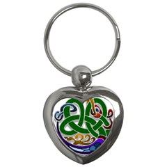 Celtic Ornament Key Chains (heart)