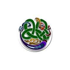 Celtic Ornament Golf Ball Marker