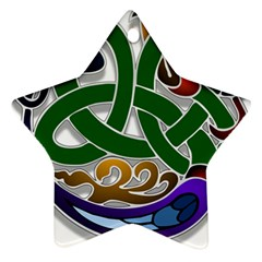 Celtic Ornament Star Ornament (Two Sides)