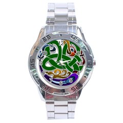 Celtic Ornament Stainless Steel Analogue Watch