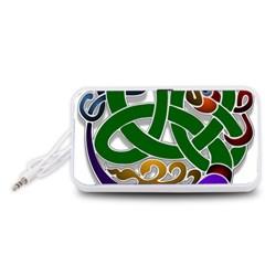 Celtic Ornament Portable Speaker (White)
