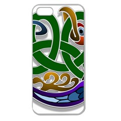 Celtic Ornament Apple Seamless Iphone 5 Case (clear)