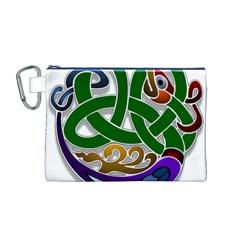 Celtic Ornament Canvas Cosmetic Bag (M)