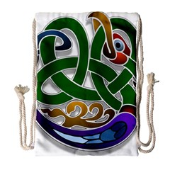 Celtic Ornament Drawstring Bag (large)