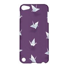 Goose Swan Animals Birl Origami Papper White Purple Apple iPod Touch 5 Hardshell Case